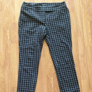 White House Black Market Checked Trousers